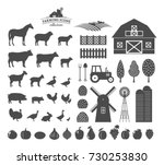 vector farm and farming icons... | Shutterstock .eps vector #730253830