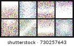 confetti background. bright... | Shutterstock .eps vector #730257643