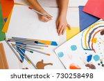 early children education.... | Shutterstock . vector #730258498