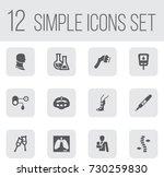 set of 12 medical icons set... | Shutterstock .eps vector #730259830