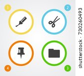set of 4 tools icons set... | Shutterstock .eps vector #730260493