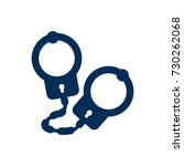 isolated handcuffs icon symbol... | Shutterstock .eps vector #730262068