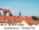 buildings and roofs in maribor...   Shutterstock . vector #730262734