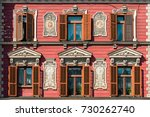 buildings and roofs in maribor... | Shutterstock . vector #730262740