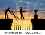a business competitor with big... | Shutterstock . vector #730263460