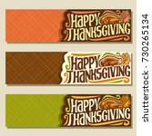 vector banners for thanksgiving ... | Shutterstock .eps vector #730265134