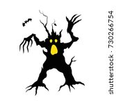 scary tree as a man for... | Shutterstock .eps vector #730266754