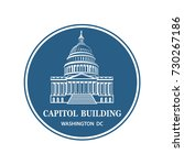 united states capitol building... | Shutterstock .eps vector #730267186