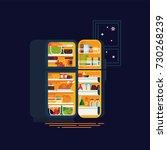 night eating concept design... | Shutterstock .eps vector #730268239