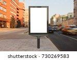 blank vertical street billboard ... | Shutterstock . vector #730269583