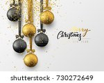 christmas greeting card  design ... | Shutterstock .eps vector #730272649