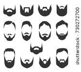set of bearded men faces ... | Shutterstock .eps vector #730272700