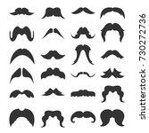 big set of mustaches black... | Shutterstock .eps vector #730272736