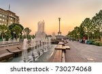 fountain and independence... | Shutterstock . vector #730274068