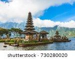 pura ulun danu bratan. temple... | Shutterstock . vector #730280020
