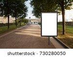 blank street billboard poster...   Shutterstock . vector #730280050