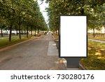 blank street billboard poster...   Shutterstock . vector #730280176