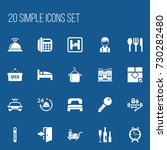 set of 20 editable plaza icons. ... | Shutterstock .eps vector #730282480