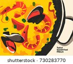 paella. spanish typical food.... | Shutterstock . vector #730283770