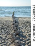 Wooden Groynes At At The North...