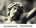 fragment of antique statue... | Shutterstock . vector #730290358