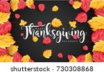 hand drawn thanksgiving...   Shutterstock .eps vector #730308868