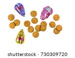 pepernoten cookies and...   Shutterstock . vector #730309720