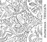 seamless mehndi vector pattern. ... | Shutterstock .eps vector #730311676