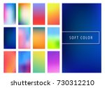 set of soft color gradients...
