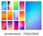 set of soft color gradients... | Shutterstock .eps vector #730312903