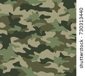 camouflage pattern seamless... | Shutterstock .eps vector #730313440