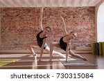 young ballerinas workout.... | Shutterstock . vector #730315084