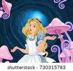 illustration of alice extremely ... | Shutterstock .eps vector #730315783