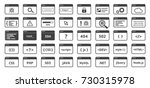 code icons set in trendy flat... | Shutterstock .eps vector #730315978