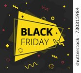 black friday sale banner in... | Shutterstock .eps vector #730315984