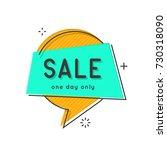 set of flat circle speech... | Shutterstock .eps vector #730318090
