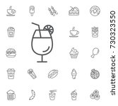 cocktail vector icon on the... | Shutterstock .eps vector #730323550