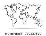 drawing map of the world.... | Shutterstock .eps vector #730327510