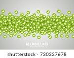 vector 3d social network like... | Shutterstock .eps vector #730327678