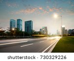 the urban traffic at shenzhen... | Shutterstock . vector #730329226
