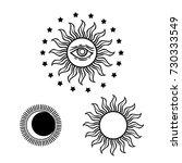 Hand Drawn Magic The Sun And...