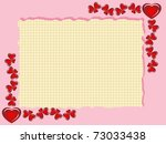 framework from hearts with... | Shutterstock .eps vector #73033438