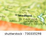 medford  oregon. | Shutterstock . vector #730335298