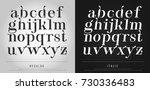 vector elegant alphabet letters ... | Shutterstock .eps vector #730336483