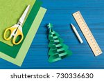 making 3d christmas tree from... | Shutterstock . vector #730336630