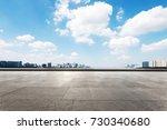 empty marble floor and... | Shutterstock . vector #730340680