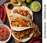 Three Mexican Tacos With...