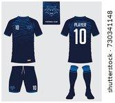 soccer jersey or football kit ... | Shutterstock .eps vector #730341148
