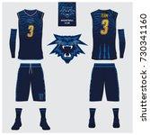 basketball jersey  shorts ... | Shutterstock .eps vector #730341160