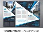 business brochure. flyer design.... | Shutterstock .eps vector #730344010